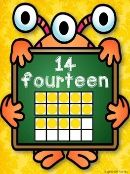 Numbers, Shapes and Colors Posters {Monsters Classroom Decor Theme}