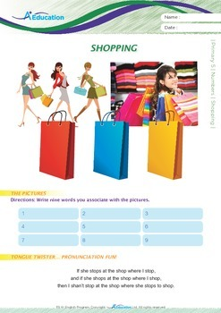 Numbers - Shopping - Grade 5