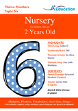 Numbers - Six : Letter O : Old - Nursery (2 years old)