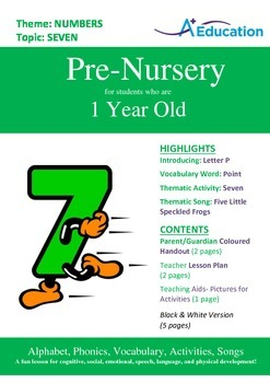 Numbers - Six : Letter P : Point - Pre-Nursery (1 year old)