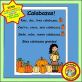 Calabazas - Spanish Pumpkin Number Song -PLUS coordinating printables
