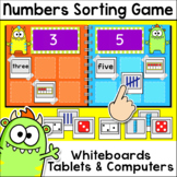 Numbers Sorting Game for Whiteboards and Computers - Number Sense from 0 to 20