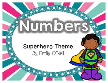 Numbers (Superhero Theme)