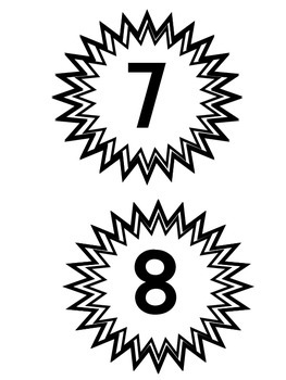 Numbers Table Numbers Group Numbers 1-10 Black and White