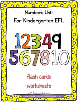 Numbers Teaching Resources for Preschool ELL