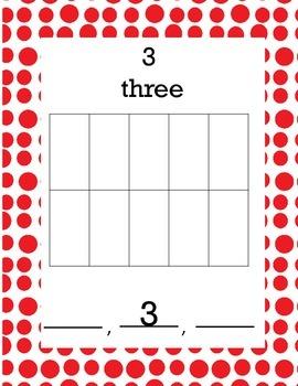 Numbers Ten Frame Math Center Activity