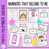 Number Sense Numbers That Belong to Me Kindergarten and ELL Dollar Deal