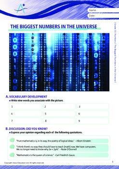 Numbers - The Biggest Numbers in the Universe - Grade 12
