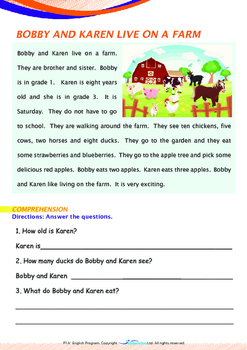 Numbers - The Farm (II) - Grade 1 (with 'Triple-Track Writing Lines')