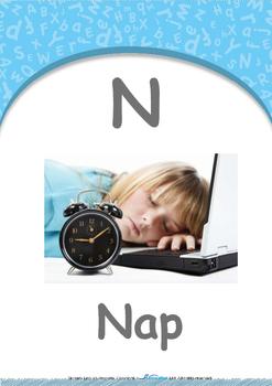 Numbers - Three : Letter N : Nap - Nursery (2 years old)