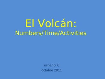 Numbers, Time and Daily Activities Volcano Game for Spanish