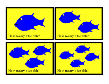 Numbers To 10 Printable Cards BLUE Fish How Many Addition