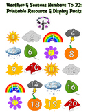 Numbers To 20 Display Pack: Weather & Seasons
