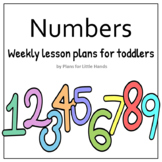 Numbers Toddler Lesson Plan