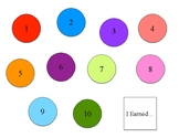 Numbers Token Board
