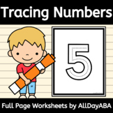 Numbers Tracing - 1 through 20 - Full Page - by AllDayABA
