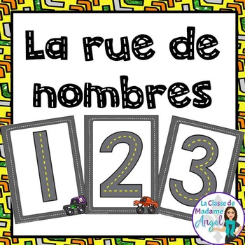 Numbers Tracing Cards in French (La rue de nombres)