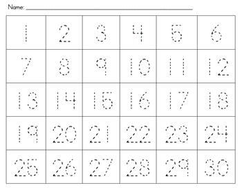 Numbers Tracing Packet