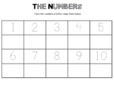 Numbers Tracing Worksheet