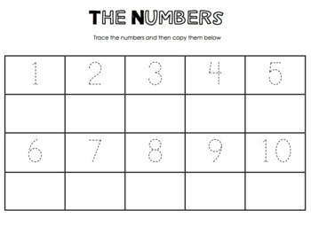 Numbers Tracing Worksheet by Miss Cappuccino | Teachers ...