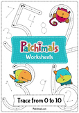 Numbers Tracing Worksheets - 0 to 10