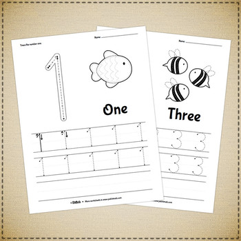 Numbers Tracing Worksheets - 0 to 20