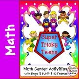 Teen Numbers Math Center Activities for Kindergarten and 1
