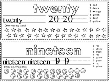 Numbers Unit: 1-20 Activity Cards (English & Spanish)
