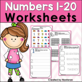 Numbers 1-20 Worksheets:Numbers To 20 Worksheets