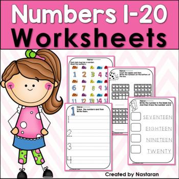 Numbers 1-20 Worksheets:Numbers To 20 Worksheets