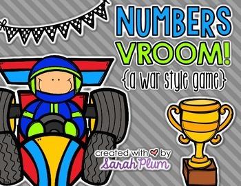 Numbers VROOM! {A War-Style Number Sense Game}