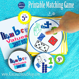 "Numbers Value Matching Game Shout Out; 31, 3"" & 5"" card; manipulatives"