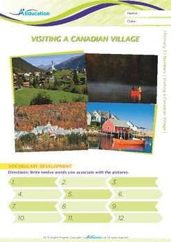 Numbers - Visiting a Canadian Village - Grade 3