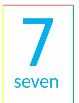 Fun pack Numbers Wall Cards 0 to 20 two sets 1 set with objects to count