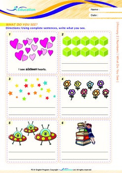 Numbers - What Do You See? - Grade 2