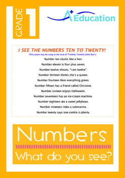 Numbers - What do you see? - Grade 1