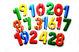 Numbers With White Background Stock Photo