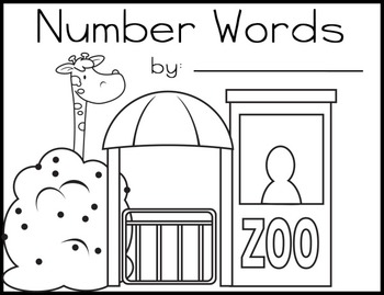 Numbers Words 0-6 Mini-Book