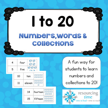 1 to 20 Numbers-Words-Collections - Free