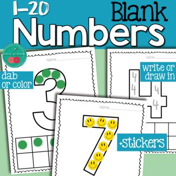 Numbers Worksheets 1-20 FREE