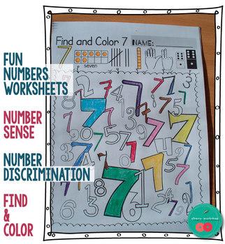 Numbers Worksheets
