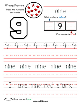 Numbers Worksheets for kids