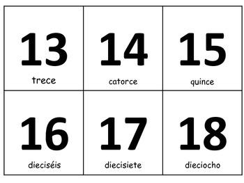 Numbers Write Around the Room/Números Escribiendo alrededor del salon