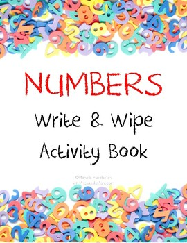 Numbers Write & Wipe Activity Book