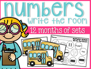 Numbers Write the Room {for the whole year}