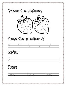 Numbers Writing 1-5