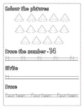 Numbers Writing 11-15