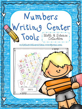 Numbers Writing Center Tools: Math and Science Words