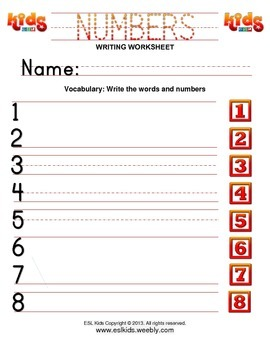 Numbers Writing Practice
