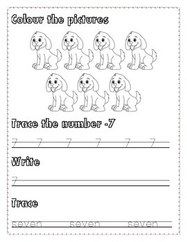 Numbers Writing  Practice 6-10